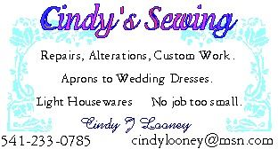 Prineville Cindy's Sewing and Repair